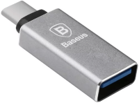 Переходник Baseus Sharp Series Type-C Adapter USB Gray CATYPEC-AD0G