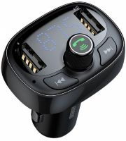 Зарядное USB-Avto Baseus T-typed Bluetooth, MP3 Charger with FM-Transmitter and Card Reader CCALL-TM0A